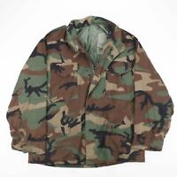Vintage US ARMY Green Woodland Camo Cold Weather Lined Jacket Size Men's Large