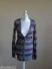 Womens River Island cardigan, size 8, grey/purple