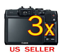 3x Canon PowerShot G16 Camera Clear LCD Screen Protector Guard Shield Film