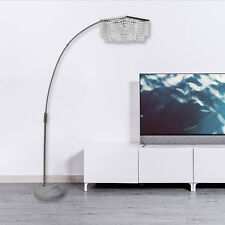 Crystal modern floor lamps for sale ebay adjustable arching floor lamp crystal shade w white natural marble base ega aloadofball Images