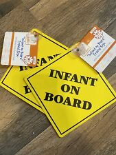 2 Baby Infant On Board Suction Cup Signs For Car Window Safety