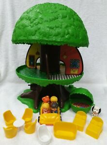 Vintage 1975 Family Treehouse TREE TOTS HOUSE Furniture People G.M.F.G.I Kenner