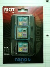 Riot Outfitters hard case for 6 generation Apple iPod Nano (3-pack)