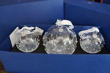 Swarovski Crystal 2015 AE Christmas Ball Ornament Set of 3. Art No 5136414