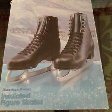 New listing Vintage American Rocket Figure Ice Skates Mens Black Size 9 Style 554