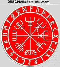 Vegvisir  Der Magische Kompass Von Wikingern Aufnäher Rückenpatch