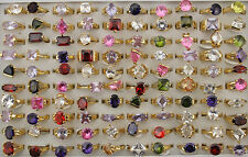 34pcs Wedding Jewelry Wholesale Lots Charms Dazzling Cubic Zircon Rings AH799