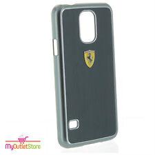 Ferrari pintura metálica cepillada Aluminio Funda Rígida Delgada Samsung Galaxy S5 Negro