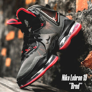 Nike Lebron XIX EP 19 Bred James Black Red Men Basketball Shoes DC9340-001