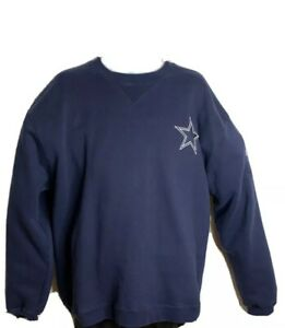 Dallas Cowboys | NFL Reebok Crewneck Heavy Fleece Sweater | Blue (Size: XL)