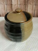 Sango Gold Dust Black Sugar Bowl and Lid EUC
