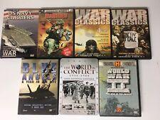 7 DVD War Documentary Sets! Classic Footage WW II Navy Marines Free Ship!