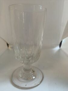 Small Early 19c Rummer Type Hand Blown Fluted Bowl Drinking Glass