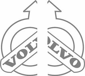 Volvo truck cab half split logo stickers (pair) good for glass or body