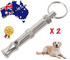 2 x Pet Dog Training Obedience Whistle Ultrasonic Supersonic Adjustable Pitch