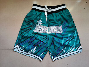 Hot Selling Seattle Mariners Light Blue Baseball Shorts Size: S-XXL