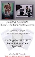 50 Perfect Fit Top-Loader Sleeves 20-55PT 75-120PT or 130-180PT cards You Choose