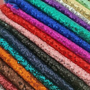 Sequin Fabric Sparkly Shiny Bling Material Cloth 130cm Wide In Colours & Sizes