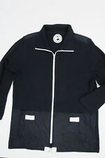 LISA CAMPIONE SAILING CLUB Navy Sweater/Jacket Full Zip M Cotton Blend Knit