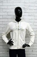Felpa Donna CHAMPION Taglia M Pullover Cardigan Sweatshirt Bianco Con Cappuccio