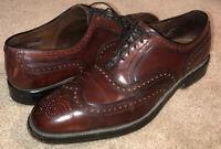 Allen Edmonds Cambridge Shell Cordovan Wingtip Dress Shoes Burgundy Men's 12 B