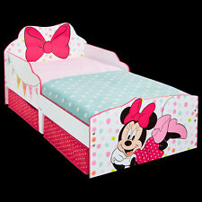 Kinderbett + Schubladen Disney Minnie 140x70cm Jugendbett Juniorbett weiß Holz