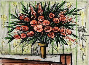 "BERNARD BUFFET Art Poster or Canvas Print ""LAURIERS-ROSES II"""