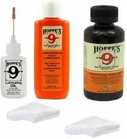 Hoppes 9 Elite Gun Cleaning kit -Cleaner & Lubricant, W/40 Patches .38-.45 Cal