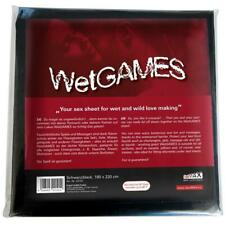 Joydivision SexMAX WetGAMES Sex-Laken, rot/schwarz/weiß, Lacklaken, Latexlaken
