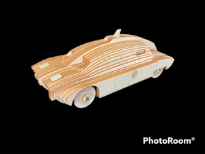 Laser Cut Wooden Maximum Security Vehicle 3D Model/Puzzle Kit