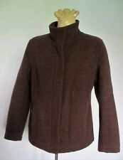 JACKET Brown WOOL Mix Lined COAT Zip Colorado sz M Outerwear Warm Winter Long Sl