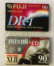 MAXELL XLII & FUJI DR-190 90 Minute High Bias Ideal for CD CASSETTE TAPE Sealed