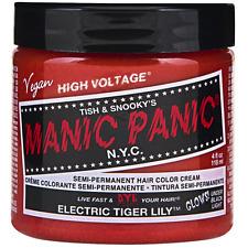 Manic Panic Semi-Permanent Hair Color Cream, Electric Tiger Lily 4 oz