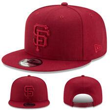 New Era San Francisco Giants Snapback Hat MLB Basic Burgundy Cardinal Color Cap