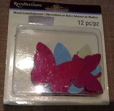Butterfly Wood Embellishments By Recollections 12 Pcs
