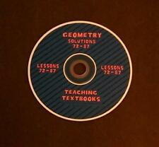 Teaching Textbooks Geometry Solutions 72-87 Replacement CD Version 1.0