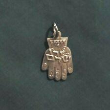 Hamsa Hand of Fatima Charm Pendant Silver Israel Magic Fate
