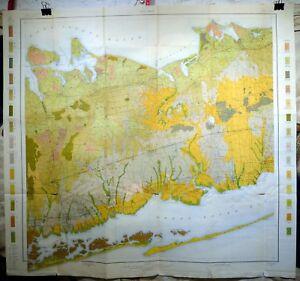 Original 1903 USDA Soil Survey Map for Babylon, New York. Huntington Amityville