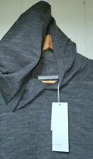 Vince Lightweight Wool Pullover Hoodie Sweater Mens 2XL NWT $245 Gray