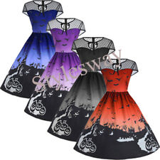 Lady Hell Bunny Gothic 50s Rockabilly Swing Haunted Halloween Pinup Retro Dress