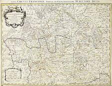 Nicolas SANSON(1600-1667)Carte geographique Franken Landkarten BAVARIA OLD MAP