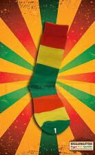 Full Red Gold and Green Rasta Socks Roots Reggae 100% cotton Selassie