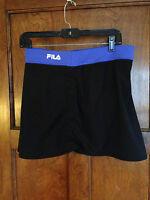 Fila XL Women's Workout Athletic Black Stretch Skort