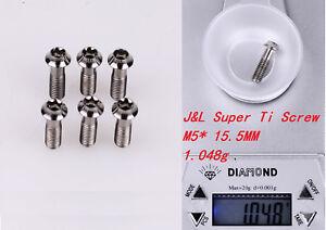 J&L Super Titanium/Ti Stem Bolts-for FSA K-Force,SL-K,OS-99,Zipp-1g* 6pcs