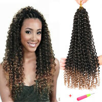 "18"" Synthetic Crochet Twist Braids Curly Water Wave Braiding Hair Extension 22st"