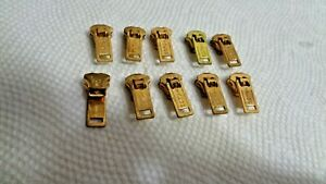 Talon Brass #3 Locking Sliders for metal zippers Lot of 10 NOS