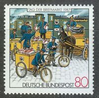 Germany 1987 MNH Mi 1337 Sc 1515 Postmen.Bicycle.Stagecoach.Horses **