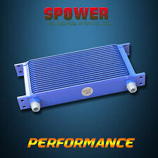 19 Row AN10 Engine Transmission 248mm Aluminum Oil Cooler Mocal Style Blue AU