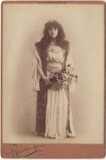 Wanda de Boncza Actrice Théâtre Photo Reutlinger Paris Vintage ca 1890