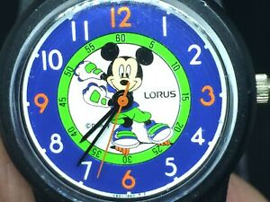 Rare Vintage Ladies Mickey Mouse Roller Derby Watch By Lorus
